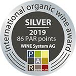 Prosecco-DOC-Spumante-Bio-2018-(diamante)_Silver-Medal_88pt_International-Organic-Wine-Award_2019